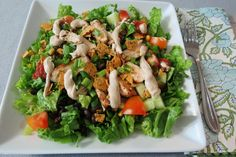 Barbecue Chicken Salad - 7 Points for a HUGE plate. Looks filling!