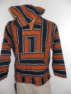 Orange & Black Surfer Hoodie Hippie Drug by PfantasticPfindsToo