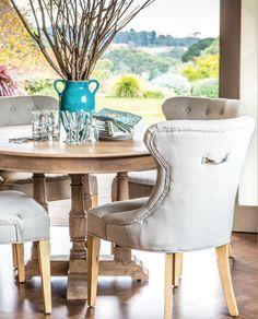 Maine Round Dining Table – Allissias Attic & Vintage French Style