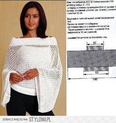 Pull Crochet, Crochet Shirt, Easy Crochet, Free Crochet, Knit Crochet, Crochet Clothes, Diy Clothes, Knitting Patterns, Crochet Patterns
