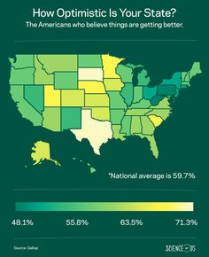 Texans Are More Optimistic Than New Yorkers -- Science of Us Interesting Statistics, Stuck In My Head, Texans, Psychology, My Life, Science, Reading, Live, Psicologia