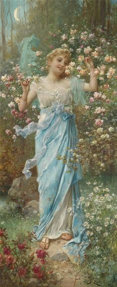 Dancing Amongst the Flowers _ Hans Zatzka 1859–1945