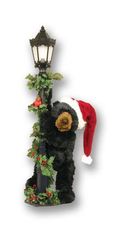 black bear decor mountain decor log cabins yule teddy bears christmas