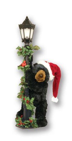 black bear decor mountain decor log cabins yule teddy bears christmas - Black Bear Christmas Decor