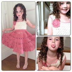 Annoos Crochet World: Little Girl Vintage Dress Free Pattern