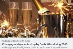 Champagne shipments drop by bottles during 2018 Flute, Champagne, Drop, Drinks, Bottle, News, Drinking, Beverages, Flask