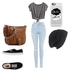 """"""""""" by lolobug-cx ❤ liked on Polyvore featuring Topshop, Vans, Casetify and Laundromat"""