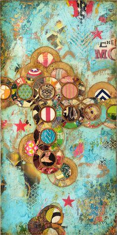 Enchanted I — Jill Ricci Art Journal Inspiration, Painting Inspiration, Mixed Media Collage, Collage Art, Art Journal Techniques, Medium Art, Pattern Wallpaper, Altered Art, Bunt
