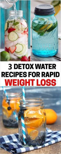5 Detox Water Recipes For Rapid Weight Loss | Detox Cleanse, Detox water, Detox Drinks, Detox Ideas detox smoothie fat flush