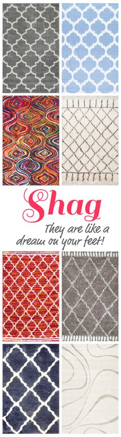 Shags provide the perfect amount of fluff and plush detail for your home and on the feet! Shop on RugsUSA.com for a large variety of affordable styles and colors with savings of up to 80% off!
