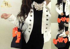 Big orange ribbon mini tote bag♥http://www.hpy-brand.com/items/352202