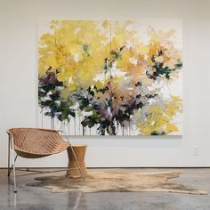 The aspens have started to turn a golden-yellow in the mountains here in Santa Fe. Large Canvas Wall Art, Large Art, Canvas Art, Abstract Drawings, Abstract Wall Art, Flower Canvas, Learn To Paint, Modern Art, Decoration