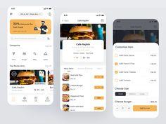 Loved:- Restaurant theme App Ui Design, Mobile App Design, Interface Design, Restaurant App, Restaurant Themes, Italian Fast Food, Library App, Motion App, Mobile App Ui