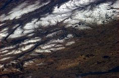 Chris Hadfield‏@Cmdr_Hadfield | Scottish winter snow highlighting the wild extent of Cairngorms National Park. | Mar 4, 2013