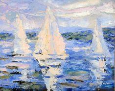 Cruising Seascape Art, Cruise, Abstract, Artwork, Painting, Summary, Work Of Art, Auguste Rodin Artwork, Cruises
