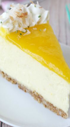 This Mango Lime Cheesecake recipe is rich, creamy and bursting with tropical flavors! Ketogenic Recipes, Diet Recipes, Vegan Recipes, Lime Cheesecake, Cheesecake Recipes, Cream Cheese Recipes, Keto Dinner, Vanilla Cake, Sweet Tooth