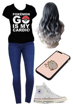"""I got two phones! One for my mom and Pokemon go!"" by andysgirlforever123 ❤ liked on Polyvore featuring PacSun, Converse and Pusheen"