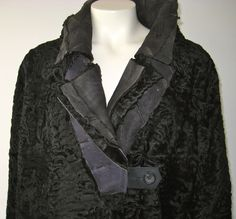 New Yesterday - reworked persian lamb coat, reversible, one of a kind, SLOW FASHION