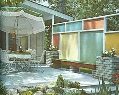 Image result for mid century backyard