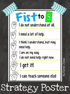 {Free} Fist to 5 Strategy Poster!