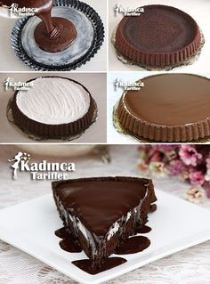 - Kadınca Tarifler - Tart Kekten Ağlayan Pasta Tarifi Imágenes efectivas que le proporcionamos sobre healthy snacks Una - Cheesecake Brownie, Cheesecake Recipes, Pie Recipes, Pancake Recipes, Pasta Recipes, Delicious Cake Recipes, Yummy Food, Pancake Cake, Best Pie