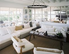I love how light and airy this living room is...