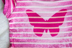 Pretty in Pink Washed Butterfly Shirt by BellaBeeB on Etsy