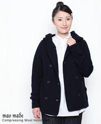 maomade マオメイド 圧縮ウール フード ニット ジャケット 3色