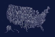 I think this typography is really clever to make all the states fit. I cant imagine trying to do Hawaii!