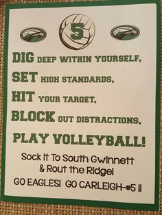 Year 2 - Volleyball Locker Decoration for my daughter's team                                                                                                                                                     More
