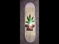 "Our latest art, designed for a student who sells skateboards, ""MILE HIGH BORDZ"" from the ""MILE HIGH CITY"""