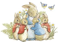 Peter Rabbit Family Hug Wall Decal