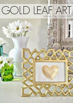 DIY Gold Leaf Art - LiveLoveDIY