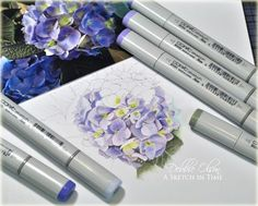 coloring with Copics (and link to discussion about papers)