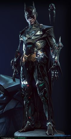 Title: Blind Batman - Real Time Character  Name: Jocelyn Zeller  Country: Canada  Software: 3ds max, Photoshop, ZBrush