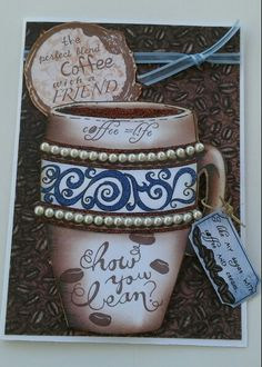 Heartfelt Creations coffee talk paper and stamps