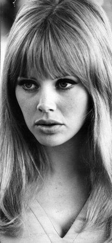 Vintage Hairstyles With Bangs Britt Ekland- once my hair grows back I will stick to this haircut till the very end. 1960s Bangs, 1960s Hair, My Hairstyle, Hairstyles With Bangs, Cool Hairstyles, Long Haircuts, Wedding Hairstyles, Hair Inspo, Hair Inspiration