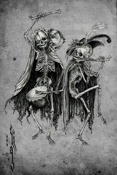 Danse Macabre (variation) Art Print by Elias Aquino