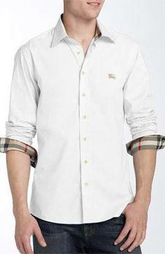 Burberry Brit 'Henry' Classic Fit Cotton Blend Sport Shirt