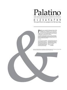History of Typeface Palatino
