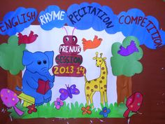 Backdrop for a stage performance Class Bulletin Boards, English Rhymes, Public School, Backdrops, Stage, Backgrounds, State School