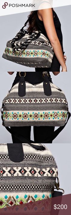 ETHNIC BAG Patterned Patchwork Shoulder Book Tote One Size.  New in packaging.   • Beautiful & versatile, this embroidered shoulder bag is made to impress.  • Exterior features an embellished tribal motif pattern, metallic detailing & ring twisted top handles. • Removable crossbody strap.  • Interior is fully lined with 2 slip pockets & 1 zip pocket.  • Cotton, poly, wool.   {Southern Girl Fashion - Closet Policy}   ✔Bundle discount: 20% off 2+ items.   ✔️ Items are priced to sell…