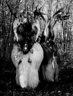 Kukeri and Mummers comes from the ancient slavic pre-pagan traditions of shaman and shaman women. Kukeri (Bulgarian: кукери; singular: kuker, кукер) is a traditional Bulgarian ritual to scare away evil spirits, with costumed men performing the ritual. Closely related traditions are found throughout the Balkans and Greece (including Romania and the Pontus).