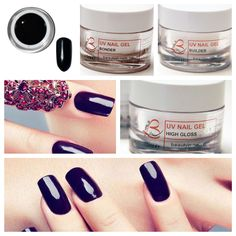 Perfect Black, #gelcolor, Beauty in Nails #nails #nailart #gel http://www.beautyin-nails.com/product