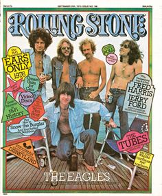 I wasn't even born yet, but my goodness, I well with envy towards Cameron Crowe for his journalistic experiences back in the rock n roll glory days. Cultura Pop, Rock Roll, Rolling Stone Magazine Cover, Eagles Band, Eagles Music, History Of The Eagles, Randy Meisner, Glenn Frey, Rip Glenn