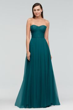 Beautiful bridesmaids dresses that combine trend-setting style with timeless taste Strapless Dress Formal, Prom Dresses, Formal Dresses, Dinosaur Wedding, Beautiful Bridesmaid Dresses, Green Bridesmaids, Burgundy Wedding, Wedding Gowns, Wedding Inspiration