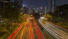 Long exposure walking around Singapore.
