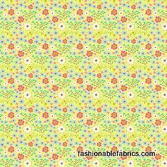 Homegrown Flower Bed in Green by Maia Ferrell for Blend Fabrics 117.101.05.
