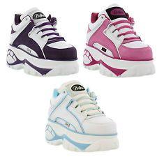 Buffalo 1339-14 Womens Classic Leather Platform Shoes / Boots Womens Size UK 4-8