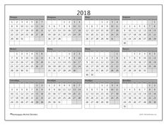 Календарь для печати  2018 - Albertus